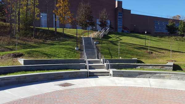 Bluestone walls Paver Sidewalk Text 1 - Landscaping
