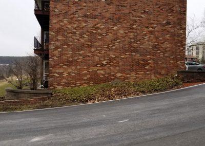driveway garden before 2 400x284 - Apartment Complex Landscape