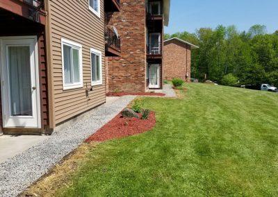 end of building after2 400x284 - Apartment Complex Landscape
