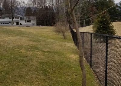 fence line before 3 400x284 - Apartment Complex Landscape