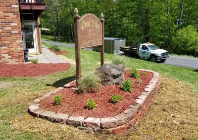 sign after 3 400x284 - Apartment Complex Landscape