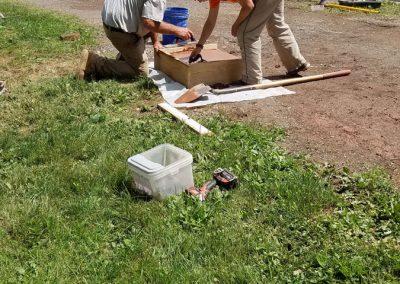 tompkins patio in progress 11 400x284 - Tompkins Concrete Patio