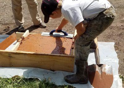 tompkins patio in progress 12 400x284 - Tompkins Concrete Patio