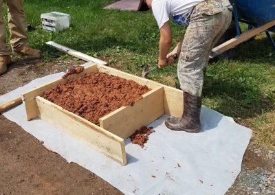 tompkins patio in progress 17 400x284 - Tompkins Concrete Patio