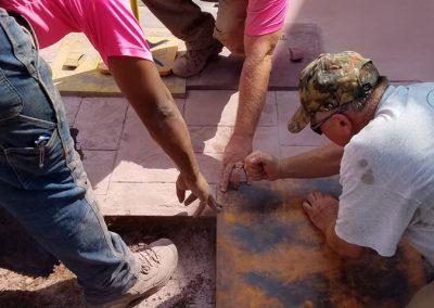 tompkins patio in progress 2 400x284 - Tompkins Concrete Patio