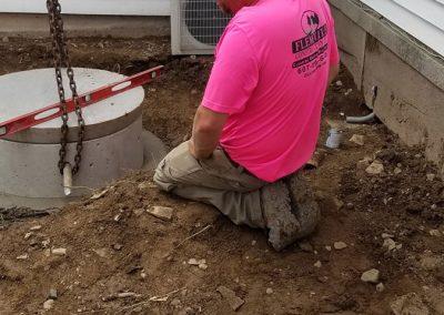 tompkins patio in progress 21 400x284 - Tompkins Concrete Patio