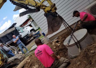 tompkins patio in progress 22 400x284 - Tompkins Concrete Patio