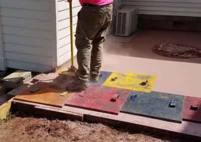 tompkins patio in progress 3 400x284 - Tompkins Concrete Patio