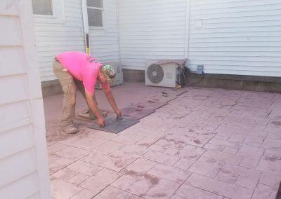 tompkins patio in progress 400x284 - Tompkins Concrete Patio