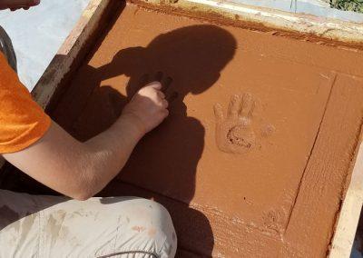 tompkins patio in progress 5 400x284 - Tompkins Concrete Patio