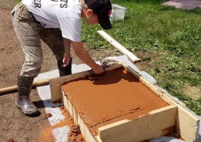 tompkins patio in progress 8 400x284 - Tompkins Concrete Patio