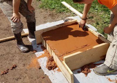 tompkins patio in progress 9 400x284 - Tompkins Concrete Patio
